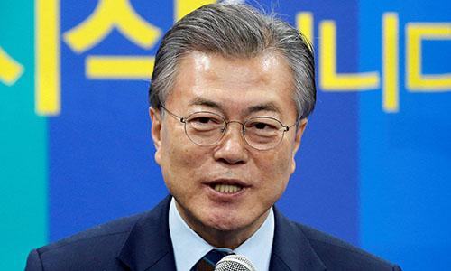 Tổng thống Hàn Quốc Moon Jae-in. Ảnh: Japan Times.