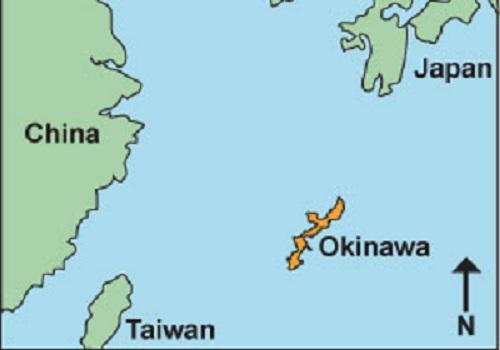 Khu vực biển gần đảo Okinawa của Nhật tiếp giáp với khu vực phụ cận Biển Đông. Đồ họa: Japan Forces.