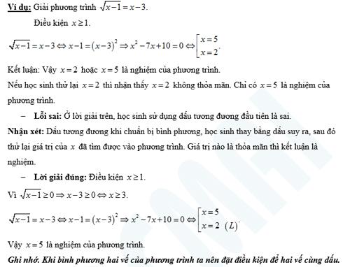 Bài toán giải phương trình thường gặp trong đề thi.