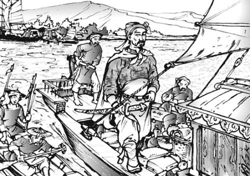 Tranh minh họa võ tướng Trần Khánh Dư.