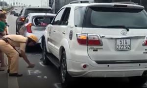 Hai vụ đâm xe liên hoàn, cao tốc Long Thành ùn tắc nhiều giờ