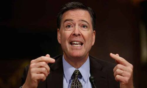 Cựu giám đốc FBI James Comey. Ảnh: AP.