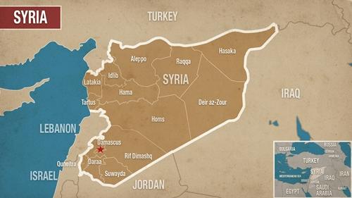 Vị trí của Aleppo và Hama. Đồ họa:alaraby.
