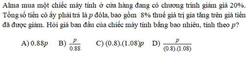 Đáp án câu hỏi hóc búa trong đề thi SAT 2016