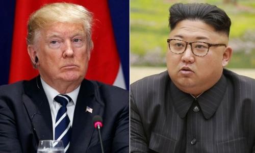 Tổng thống Mỹ Donald Trump (trái)và lãnh đạo Triều Tiên Kim Jong-un. Ảnh: AP.