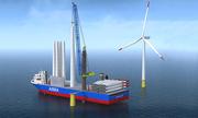Trung Quốc xuất xưởng siêu tàu lắp đặt turbine gió trên biển