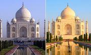 Lăng mộ nổi tiếng Ấn Độ đổi màu