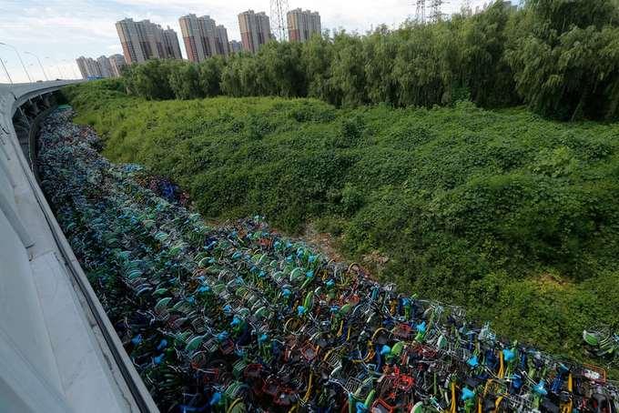 Những nghĩa địa xe đạp dùng chung ở Trung Quốc