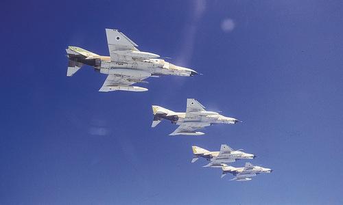 Biên đội tiêm kích F-4 Phantom của Israel. Ảnh: IAF.