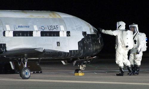 Máy bay vũ trụ X-37B, một trong các dự án bí ẩn do không quân Mỹ quản lý. Ảnh:USAF.
