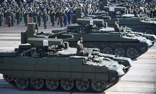 Xe thiết giáp Kẻ hủy diệt, một trong các khí tài mới được Nga công bố năm nay. Ảnh: Ria Novosti.