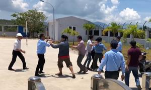 Tài xế đập phá, đánh nhân viên trạm BOT ở Khánh Hòa