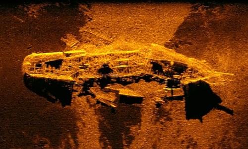 Xác tàu được tìm thấy ở độ sâu hơn 3.000 m so dưới đáy đại dương. Ảnh: AFP.
