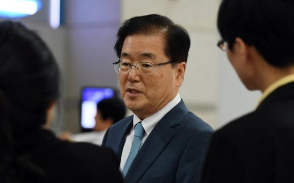 Chung Eui-yong, trưởng văn phòng an ninh quốc gia của tổng thống Hàn Quốc. Ảnh: