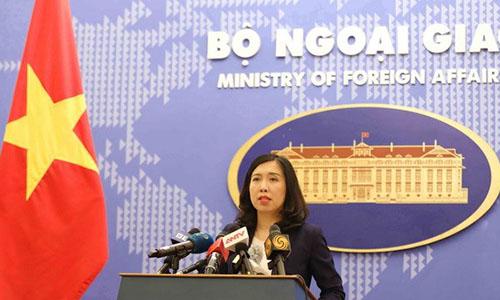 Bà Lê Thị Thu Hằng, Người phát ngôn Bộ Ngoại giao Việt Nam. Ảnh: TTXVN.