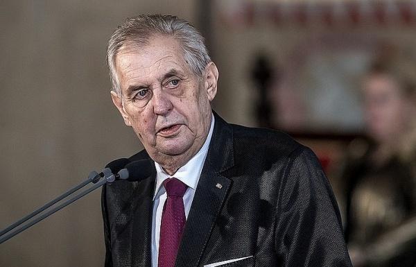 Tổng thống Cộng hoà Czech Milos Zeman. Ảnh: Tass.