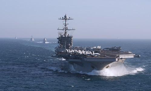Nhóm tác chiến tàu sân bay Harry Truman. Ảnh: US Navy.