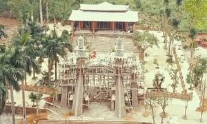 Chưa tháo dỡ 'cung điện thờ thiên' trái phép ở Ba Vì
