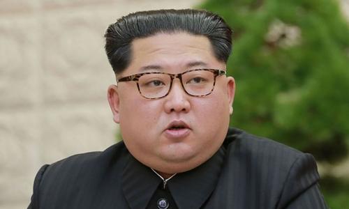 Lãnh đạo Triều Tiên Kim Jong-un tại Bình Nhưỡng ngày 20/4. Ảnh: KCNA.