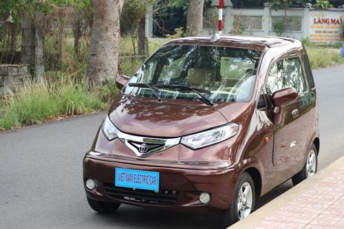 Mẫu ôtô điện của ông Trần Văn Tâm ở Củ Chi.
