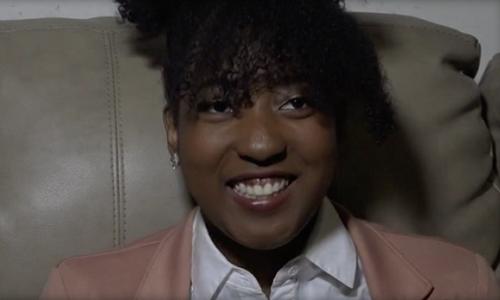 Jasmine Harrison sẽ trở thành sinh viên Đại họcBennett. Ảnh:WFMY-TV