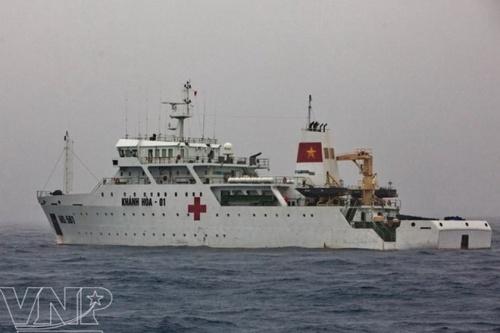 Tàu bệnh viện Khánh Hòa 01. (Nguồn: Báo ảnh Việt Nam)