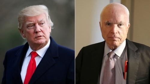Tổng thống Mỹ Donald Trump và thượng nghị sĩ John McCain. Ảnh: