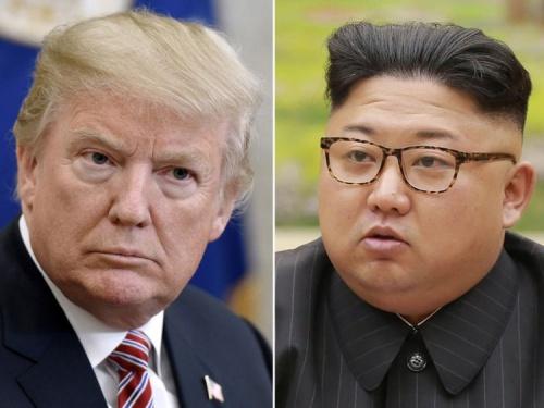 Lãnh đạo Mỹ và Triều Tiên. Ảnh: SkyNews.
