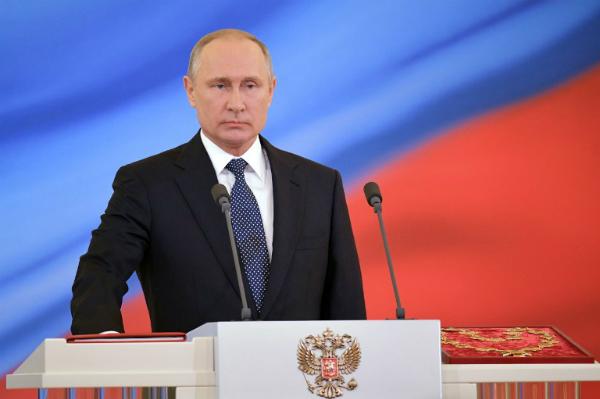 Putin tuyên thệ nhậm chức. Ảnh: AFP.