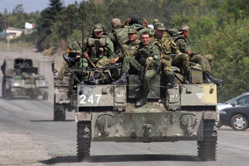 Lính Nga tham chiến ở Gruzia năm 2008. Ảnh: Sputnik.