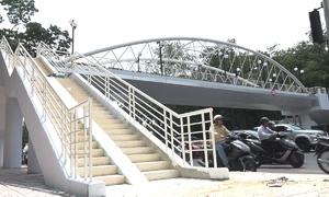 Cầu vượt bộ hành đẹp nhất Sài Gòn sắp hoàn thành