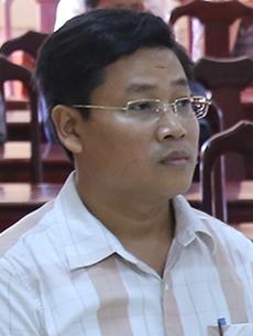 Ông Dương tại phiên xétxử vụ đánh bạc. Ảnh:Hoàng Táo