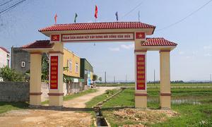Cổng làng gần 80 triệu đồng xây trên mương nước