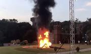 Cô dâu Brazil thoát chết khi trực thăng bốc cháy giữa hôn trường