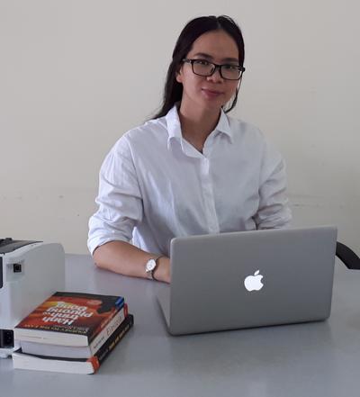 Bà Vũ Thị Kim Anh - Giám Đốc công ty TNHH Skype English.