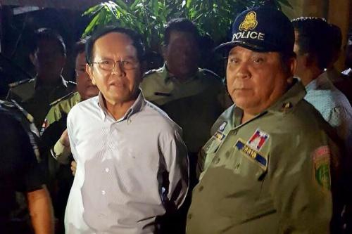 Kem Sokha, lãnh đạo CNRP khi bị bắt. Ảnh: PhnompenhPost.