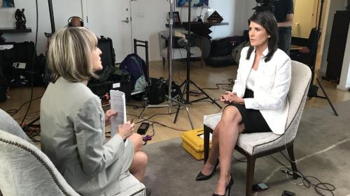 Bà Haley trả lời phỏng vấn CBS News. Ảnh: CBSNews.