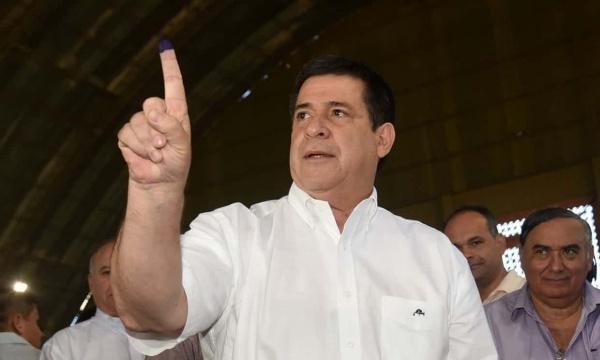 Tổng thống Paraguay Horacio Cartes hồi tháng 4. Ảnh: