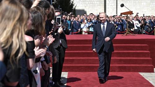 Tổng thống Nga Vladimir Putin trong lễ nhậm chức. Ảnh: RT.