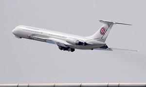Khoảnh khắc máy bay của Kim Jong-un rời Trung Quốc