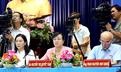 Tổ đại biểu Quốc hội TP HCM. Ảnh: Phạm Duy