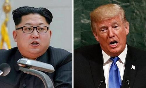 Lãnh đạo Triều Tiên Kim Jong-un (trái) và Tổng thống Mỹ Donald Trump. Ảnh: Guardian.