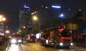 Cháy tầng 25 tòa nhà đang thi công ở Hà Nội