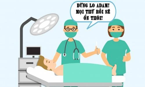 Bệnh nhân rụng rời trước lời an ủi của bác sĩ