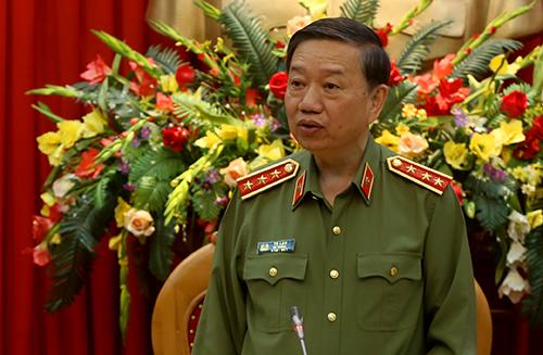Thượng tướng Tô Lâm, Bộ trưởng Bộ Công An. Ảnh: Bá Đô