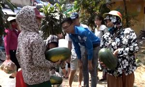 Sinh viên 'giải cứu' 30 tấn dưa hấu giúp nông dân Quảng Ngãi