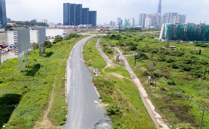 Hiện trạng bốn tuyến đường giá 12.000 tỷ đồng ở Thủ Thiêm