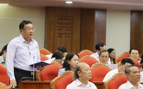 Ông Phạm Hoài Nam phát biểu ý kiến. Ảnh: TTX