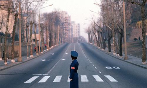 Đường phố vắng vẻ ở thủ đô Bình Nhưỡng, Triều Tiên. Ảnh: RT.