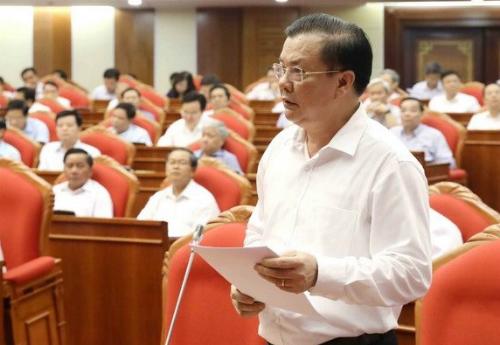 Bộ trưởng Đinh Tiến Dũng phát biểu tại Hội nghị. Ảnh: TTX